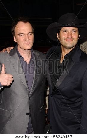 Quentin Tarantino and Robert Rodriguez at the Los Angeles premiere of