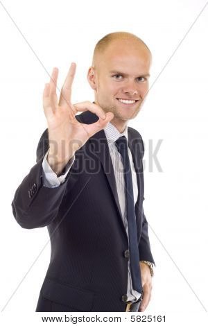 "Business Man Gestures ""ok"""