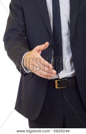 Empresário pronto para aperto de mão