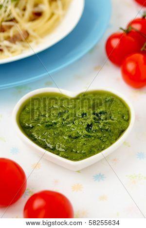 Pesto alla Genovese , Basil Sauce.