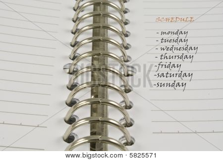 Schedule Notebook