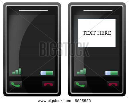 Blank Mobile Phone Touch Screen