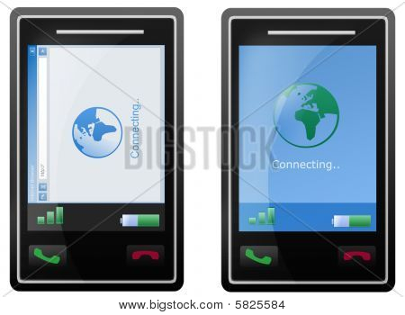 Internet Mobile Phone Screen