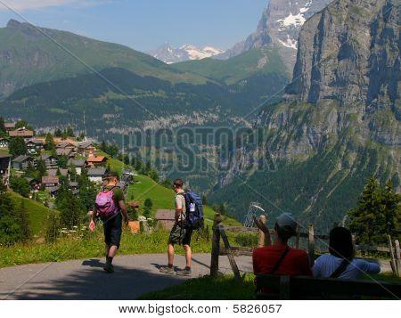 Alpine trekking