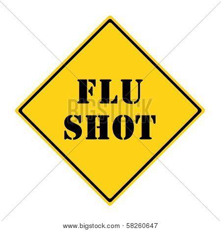 Flu Shot Road Sign