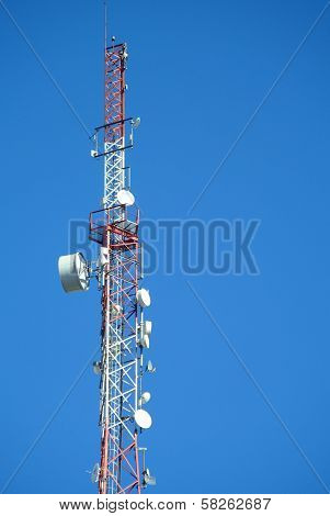Top Of A Cell Phone Antenna