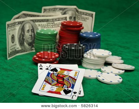 A winning blackjack hand