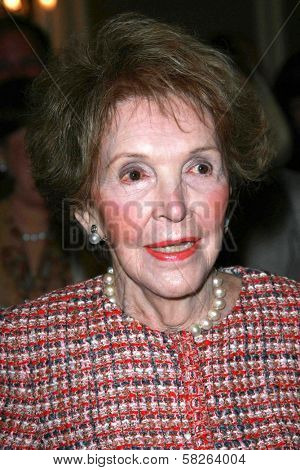 Nancy Reagan at the Saks Fifth Avenue and Colleagues Annual Spring Luncheon honoring Brooke Shields. Beverly Wilshire Hotel, Beverly Hills, CA. 04-10-07