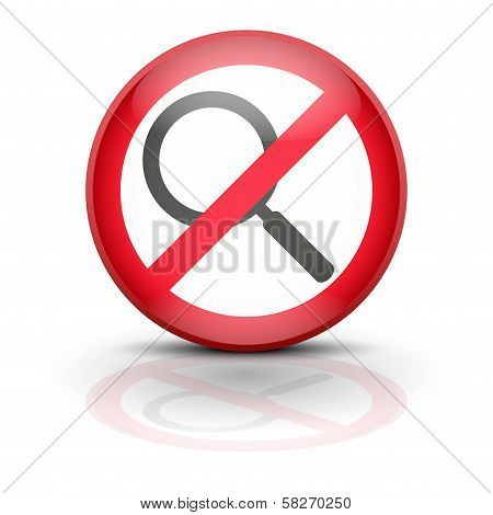 Anti spyware icon symbol illustration