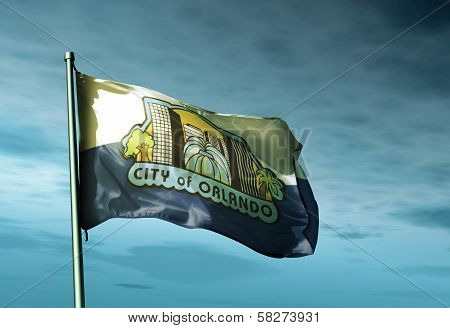 Orlando Florida (USA) flag waving on the wind