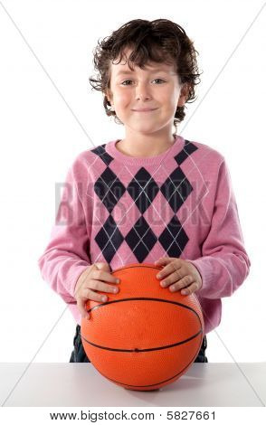 Handsome Boy With Basket Ball