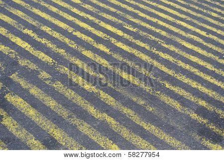 Stripes On Street Concrete