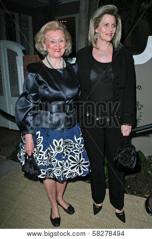 Barbara Davis and Nancy Davis at the Oscar De La Renta Boutique Opening Benefiting EIF Women's Cancer Research Fund. Saks Fifth Avenue, Beverly Hills, CA. 04-18-07