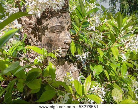 Vishnu In Flowers