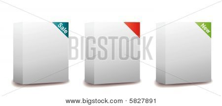 Vector Templates - Blank Software Package Boxes