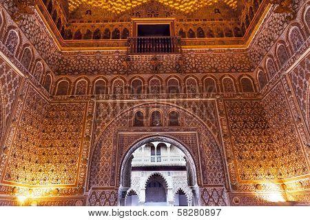 Arch Mosaics Ambassador Room Alcazar Royal Palace Seville Spain