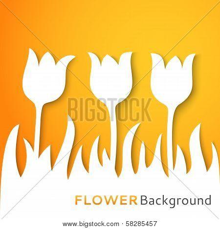 Flower applique background. Vector illustration