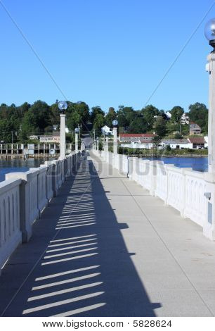 Belfast Maine footbridge
