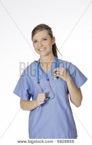 Doctor caucásico