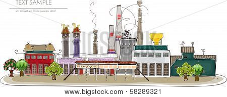 Big factory illustration,