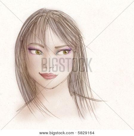 Girl Drawn