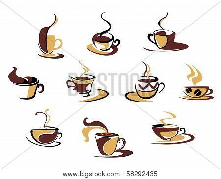 Different coffee cups