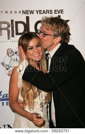 Carmen Electra and Andy Dick at the Gridlock New Years Eve 2007 Party, Paramount Studios, Los Angeles, CA 12-31-06