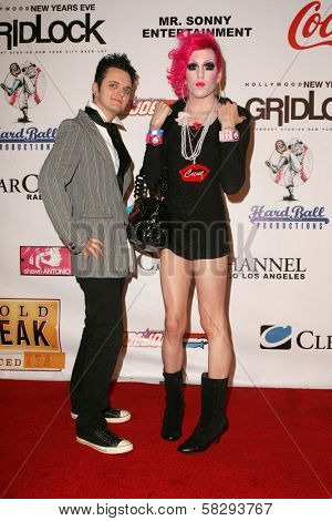 Clinrton Catalyst and Jeffree Star at the Gridlock New Years Eve 2007 Party, Paramount Studios, Los Angeles, CA 12-31-06
