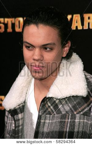 Evan Ross at the world premiere of