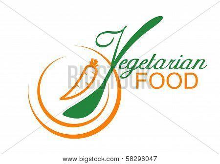 Vegetarian food symbol