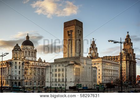 Pier Head, Liverpool, UK