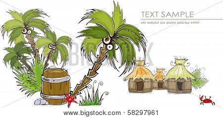 Jungle village Travel background