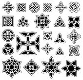 stock photo of celtic  - 24 Celtic Knots Collection on White Background - JPG