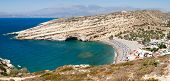 stock photo of off-shore  - Panorama off Matala bay in Crete on Greece - JPG