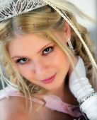 Smiling Young Adult Blond Bride