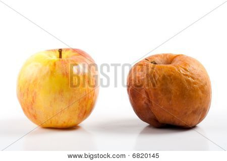 The Good And The Bad - Fresh Apple Near Rotten Apple