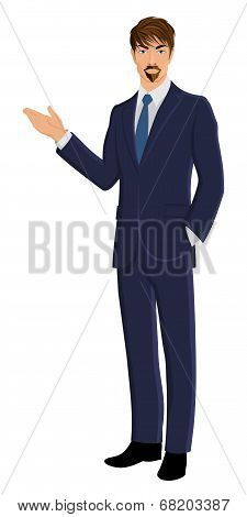 Business man isolated on white