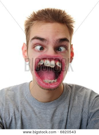 Man With Weird Mouth