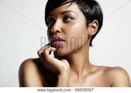 Portrait Of Gorgeous Black Woman