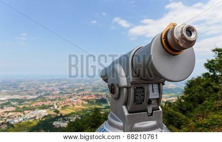 Spyglass On A Mountain In San Marino