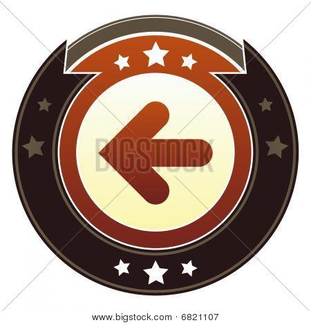 Left arrow or back button