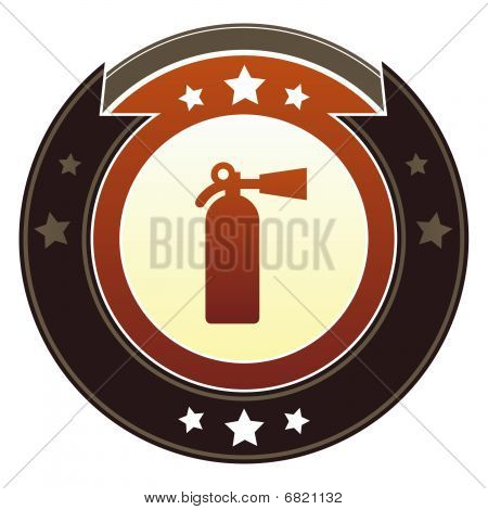 Fire extinguisher or safety icon