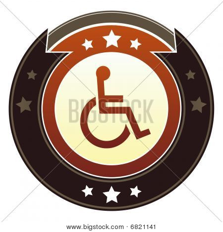 Handicapped or wheelchair symbol