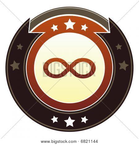 Infinity symbol math icon