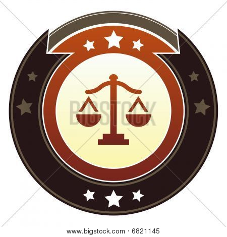 Justice or balance scales icon