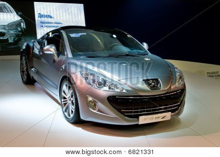 Moscow, Russia - August 27: Metallic Peugeot 308 At Moscow International Exhibition Interauto On Aug