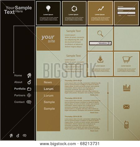 Creative web design, vector