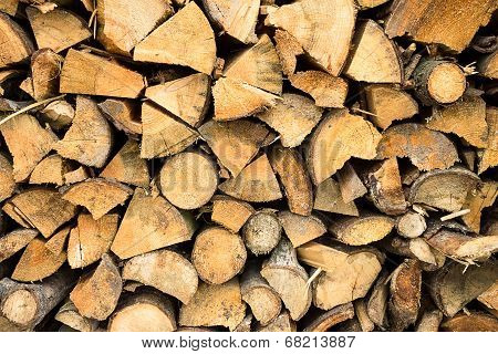 Firewood Stacked .