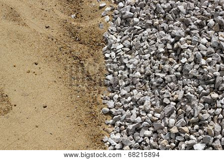 Sand And Broken Stone Vertical Background