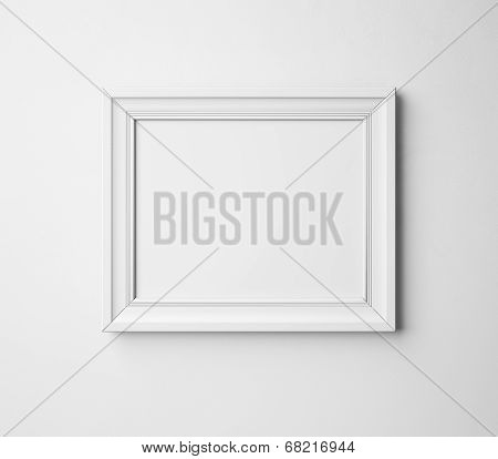 blank frame on a wall